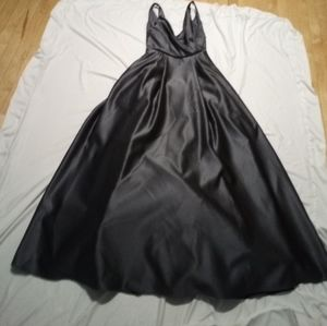 Davids Bridal Versa Size 2 Pewter Prom Bridesmaid